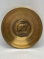 Yellowstone National Park Glass Covered Brass Plate Bates & Klinke Inc.