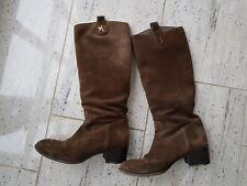 Original GUCCI Stiefel Boots Gr. 39,5 braun Wildleder Leder