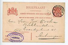 Netherlands postal stationery postcard used 1906 Amsterdam (M201)