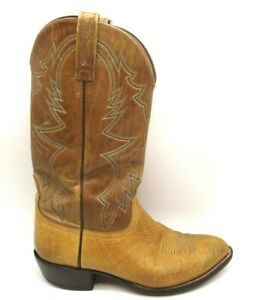 Lucchese 2000 Brown Bullhide Leather Cowboy Western Boots Shoes Men's 10 D