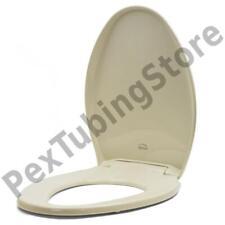 Bemis 1200E4 (Almond) Premium Plastic Soft-Close Elongated Toilet Seat