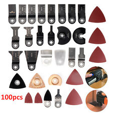 100X Mix Multitool Blades For Fein Multimaster Bosch Makita Milwaukee Multi Tool