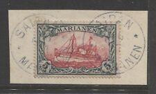 1901 German colonies Mariana Islands 5 Mark used , SAIPAN, signed  $ 720.00