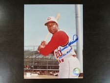 Frank Robinson Autograph / Signed 8 x 10 photo Cincinnati Reds 1961 NL MVP