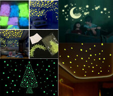 New 100Pcs Star Wall Stickers Light Rose Glow In The Dark Decal Kid Bedroom CX80