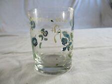 """verre normand ancien peint """"souvenir"""" 19éme."""