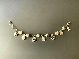 Brighton Charm Bracelet with Pink Rose Quartz Gemstone