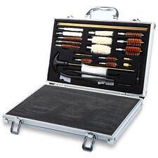 Aluminum Wooden Box Universal Hand Gun Rifle Shot Gun Cleaning Smithing Kit Set