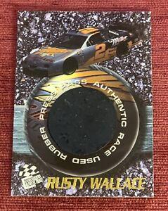 1996 Press Pass RUSTY WALLACE #/1996 Race Used Rubber Tire 9/07/96 RARE PROMO🔥