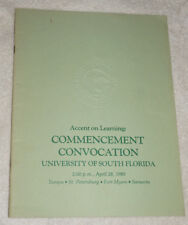 University of South Florida 1985 Commencement Convocation program