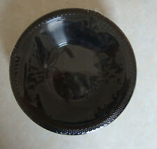 20 x Black Plastic Bowls Party Dessert Pudding Bowls Black Party Tableware