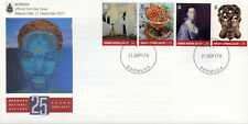 Bermuda 2017 FDC National Gallery 25th Anniv 4v Set Cover Art Paintings Stamps
