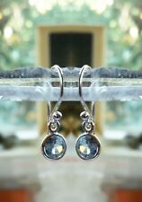 315g Blue Topaz Solid 925 Sterling Silver 6mm facet gemstone earrings rrp$34.95