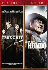 Double Feature: True Grit / Hondo (DVD, 2013, Full & Widescreen) *FREE Shipping*