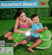 Kids Comfort Quest Bestway Inflatable Couch Sofa Seat Green Age 3-6 (Green)
