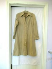 """Georgette Tritere for Trimar ultra-suede dress, brass studs, c. 1970s, 36"""" chest"""