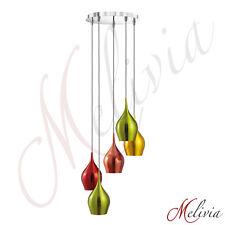 Luminaire suspendu Ø31cm 5x40W Rouge Doré Vert Cuivre Lampe À Suspension Moderne