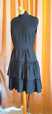 AUTHENTIC CLASSIC DAY EVENING  BLACK DICE KAYEK RUFFLE  DRESS SZ 38