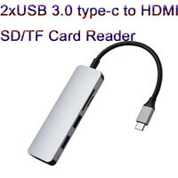 USB Type-C to 4K HDMI USB 3.0 SD/TF Card Reader Adapter for NoteBook Samsung S8