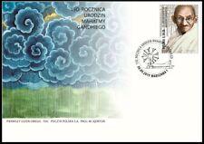Poland 2019 M. Gandhi 1v Official Cachet FDC + Mnh Stamp