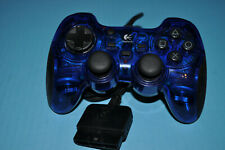Logitech Sony PlayStation 1 & 2 Compatible Blue Controller Corded Tested 429