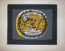 Piaubert Jean Lithographie originale signée Art Abstrait abstraction