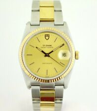 Tudor Prince-Quartz  Oysterdate 91533N Two Tone Steel Champagne 34mm Wrist Watch