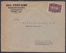 DR Mi Nr. 219 EF Firmen Brief Zittau Werkzeug Fabrik - Nürnberg 1923