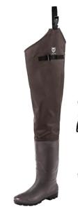 TIDEWE Hip Wader, Lightweight Hip Boot for Men and Women,2-Ply PVC/Nylon Fishing