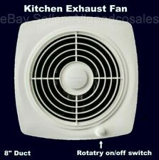 KITCHEN EXHAUST FAN w/ Switch Through Wall Ventilation Workshop Laundry 8