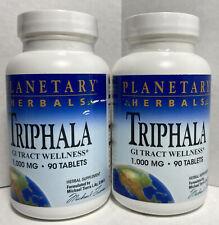 Triphala 1000 mg - 90 Tablets GI Track Wellness  6/22 2 Bottles Planetary Herbal