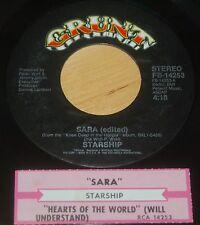 Starship 45 Sara / Hearts Of The World (Will Understand)  w/ts