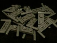 Lego Plate with Handles 1x2 to side on each end (lowerd) [3839b] - Dark Grey x16