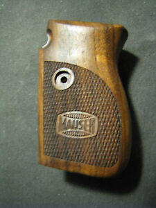 Mauser 1914 French Walnut Checkered Engraved Pistol Grips w/Logo BEAUTIFUL New!