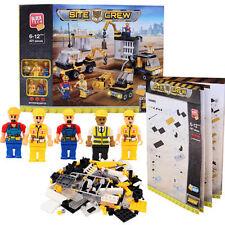 421 pcs Block Tech Site Crew Construction Building Block Bricks Set Mini Figures