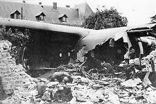 WW2 - Photo - Planeur américain crashé à Sainte-Mère-Eglise le 6 juin 1944
