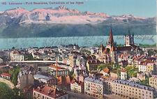 AK Lausanne 1927 Pont Bessières Kathedrale Stadtansicht Brücke