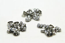 10 (5 pair) Stainless Steel Butterfly Earring Backs Stops Stoppers