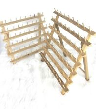 June Tailor Thread Rack Organizer Table Stand Wall Mount Lot 2 Holds 123 Spools
