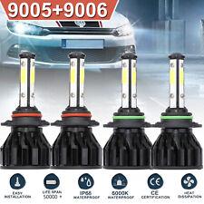 9005 9006 4-Sided Led Headlight Kit 4400W 480000Lm Total High-Low Beam 4Pcs