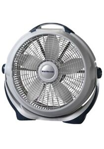 "Lasko 20"" 3-Speed Wind Machine® Air Circulator Floor Fan, 3300, Gray *New"