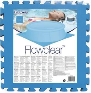 """Bestway/ Lay Z Spa Pool and Spa Blue Floor Protector - 8 of 20"""" x 20"""" mats"""