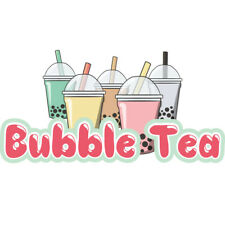 Bubble Tea Concession Decal sign cart trailer stand sticker equipment
