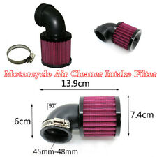 90° 45-48mm Inlet Pipe Intake Air Filter System For Motorcycle Replacement Parts