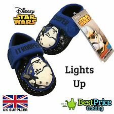 Official Disney Star Wars Stormtrooper LED Light up Slippers Shoes UK Size 4-5