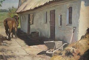 """KNUD EDSBERG(1911-2003) """"A HORSE & A WHEELBARROW"""""""