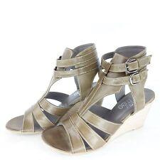 Maripe Shirley MAE scarpe donna Sandaletti ZEPPE ZEPPA PELLE VERDE NP 125 NUOVO