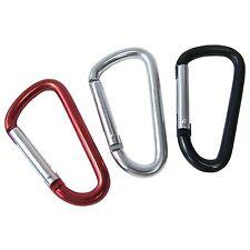 3 x Snap Hook Set Aluminium Carabiner Camping Rucksacks Spring Clip Keyring