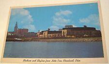 United States Ohio Stadium and Skyline from Lake Erie Cleveland K-47 Curteichcol