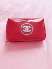 Chanel Glossy Burgundy Make up Pouch Bag VIP gift